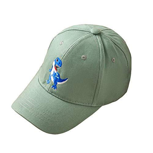 Yinuoday Gorra de Béisbol para Niños Pequeños Dinosaurio Bordado Recién Nacido Sombrero de ala Ancha Sombrero Al Aire Libre