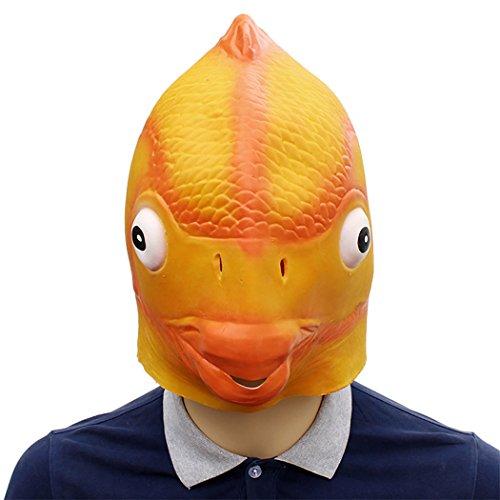 FunPa Halloween Latex Maske Künstliche Fisch Design Kostüm Maske Horrible Maske Maskerade Party Prop