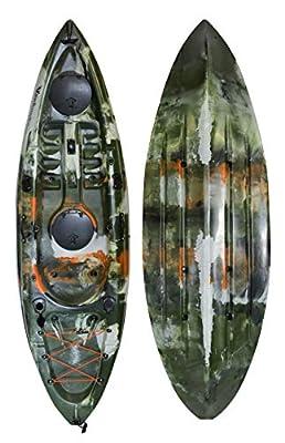 00850008571107 Vanhunks Whale Runner 9ft Fishing Kayak - Jungle Green by Vanhunks Boarding