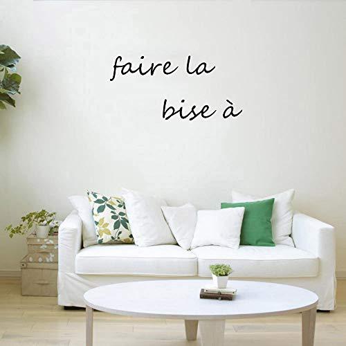 jiushivr Faire la bise à Adesivo da parete in vinile Accessori per la decorazione Della casa per soggiorno Moda Trend in Stile Sfondi adesivi 42x81cm