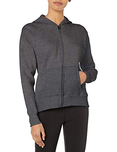 Hanes womens ComfortSoft EcoSmart Women's Full-Zip Hoodie Sweatshirt Slate Heather Small