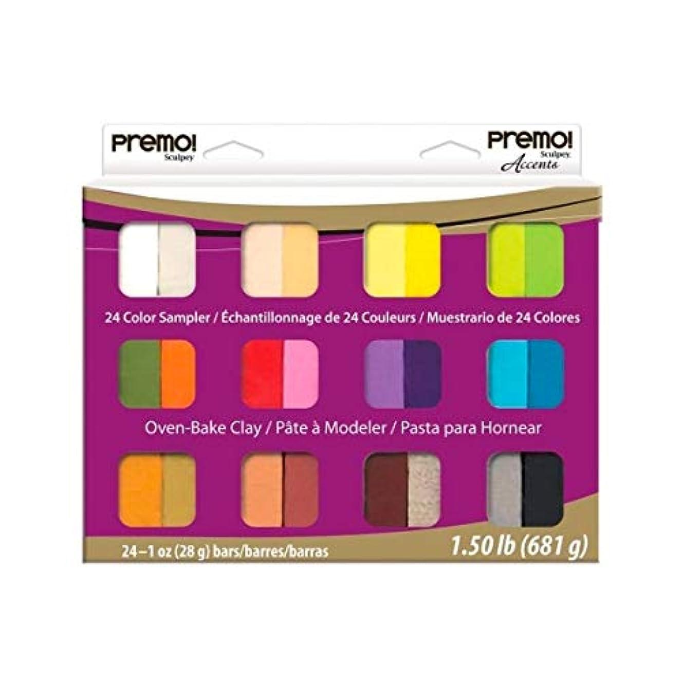 Premo SculpeyAccents 24 Colors Sampler, Set of 24