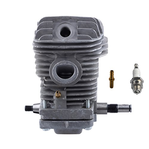 Hipa 42.5mm Cylinder Assembly with Spark Plug Replacement Crankcase Connector for STHIL 023 025 MS230 MS250 Chainsaw