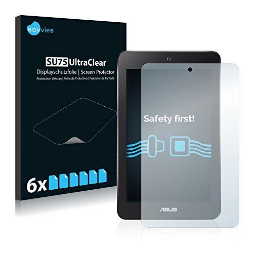 Savvies 6X Schutzfolie kompatibel mit Asus MeMo Pad HD 7 ME173X Bildschirmschutz-Folie Ultra-transparent
