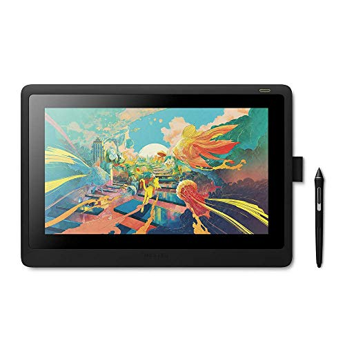 Wacom Cintiq 16 Creative Pen Display for On Screen Sketching, Illustrating and Drawing with 1920 x 1080 Full HD Display, Vibrant Color and Unbelievable Pen Precision, Compatible with Windows and Mac