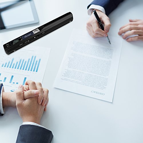 AOZBZ Portable Document Scanner Dokumentenscanner, 900DPI Mobile USB Handscanner A4 Farb Photo Scanner Handy Scan (JPG/PDF-Format, Hochgeschwindigkeits-USB 2,0,Brauchen Micro SD/TF Card aber Nicht Inbegriffen) - 2