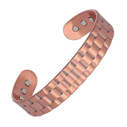 HJGHY Copper Bracelet for Women/Men Magnetic Healing Bracelets Pain Relief for Arthritis and Carpal Tunnel Syndrome,Adjustable