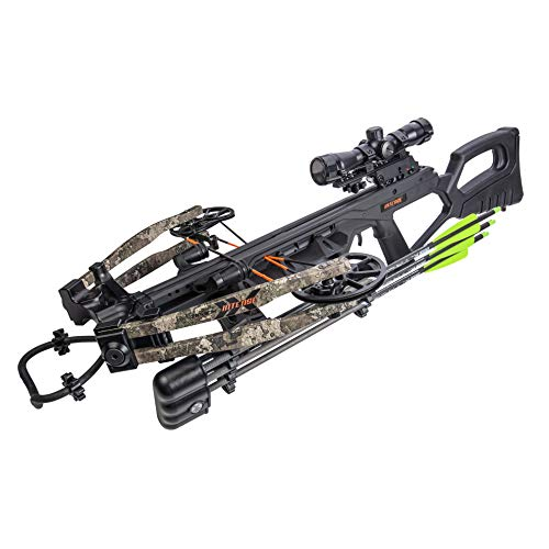Bear X Intense Ready to Shoot Crossbow Package with Scope, Quiver, Bolts, Cocking Rope, and Wax, Strata Finish, One Size (AC03A2AA185)