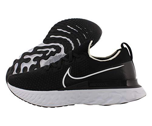 Nike Men's React Infinity Run FK Running Shoe Black/White/Dark Grey 11