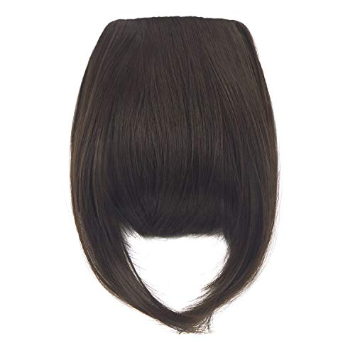 Haironline Big SALE 8'(20cm) Bangs Clip in Hair Extensions Front Neat Bang Fringe One Piece Striaght Hairpiece Accessories