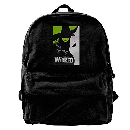 Wicked The Musical Rucksack aus Segeltuch, für Fitnessstudio, Wandern, Laptop, Schultertasche, Tagesrucksack für Damen und Herren