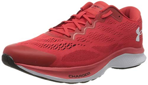 Under Armour Charged Bandit 6, Zapatillas para Correr para Hombre, Versa Rojo Blanco Blanco 600, 43 EU