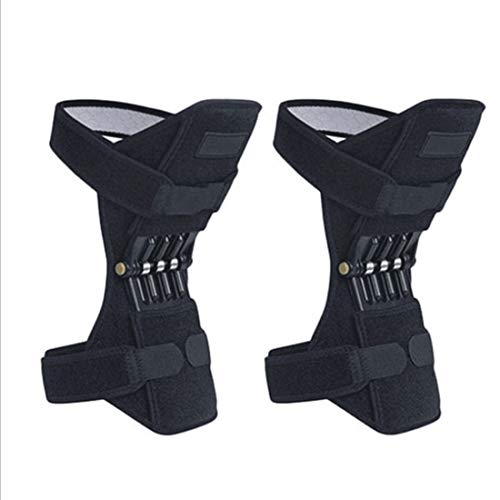 WMY Rodilleras de Apoyo para articulaciones Rodilleras, Correa para el Tobillo, Fuerza de Resorte de elevación mecánica, Almohadillas para tendones en Gimnasio de tendones