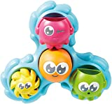 Toomies Tomy Spin & Splash Octopals Toddler Bath Toy - You Pour and They Spin & Splash