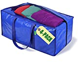 Jumbo Heavy-Duty Moving Bags, Clothing Storage Bags...
