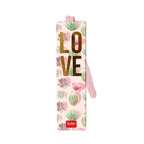 Legami Milano SE0238 - Lesezeichen mit Gummiband - Love