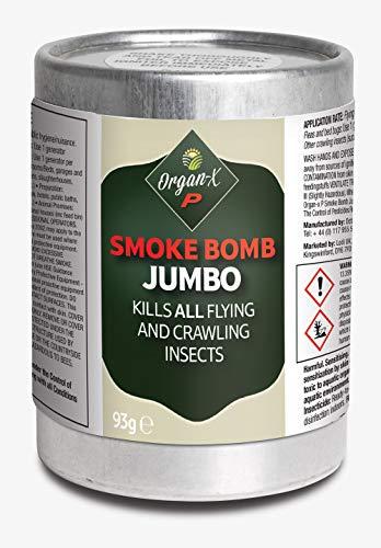 1 x 93g Organ-X P Professional Jumbo smoke bomb- kills all insects indoors,...