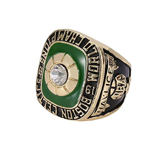 WSTYY 1969 NBA Basketball Boston Celtics Championship Ring Anillos de Campeonato, Campeones Anillo de réplica para Aficionados del Recuerdo de la colección del Regalo,with Box,11