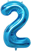 LAIYYI Número Grande Globo de Helio Gigante para la Fiesta de cumpleaños Compromiso de Boda Decoración 32 Pulgada Size #2