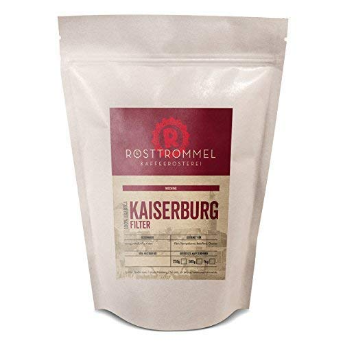Kaffeebohnen KAISERBURG - Kakaonote - handgeröstet - ideal für Vollautomat, French-Press & Filterkaffee