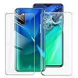 KJYF Fundas para Elephone E10 (6.50 Pulgadas) + Protectores de Pantalla in Cristal Templado HD, Flexible Case Caso Cover Transparente TPU Silicona - Transparente