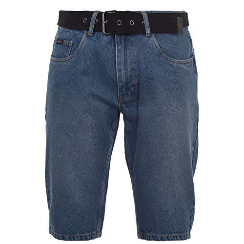Pierre Cardin Hombre Pantalones Vaqueros Cortos con Cinturón