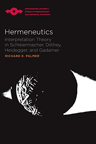 Hermeneutics: Interpretation Theory in Schleiermacher, Dilthey, Heidegger and Gadamer (Studies in Phenomenology and Existential Philosophy)