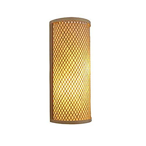 Meixian Wandlamp, binnen, bamboe, gevlochten rotan, schaduw, tunnellamp, rustiek, Aziatisch Japans Koreaans licht, Luminaria slaapkamer 's nachts hal, eenvoudig retro