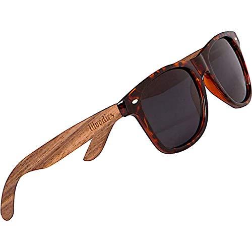 Woodies Sonnenbrille Walnussholz, polarisiert, Rahmen Schildkröte