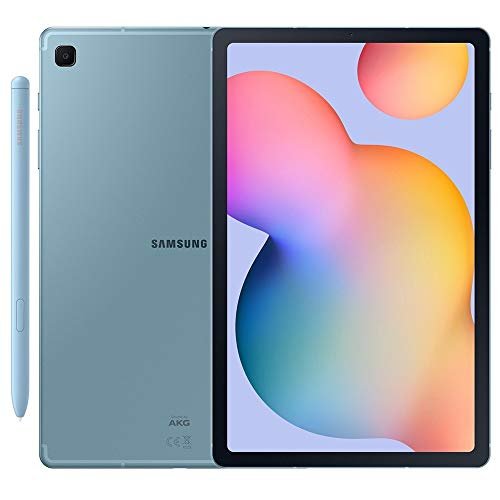 Samsung Galaxy Tab S6 Lite w/S Pen (64GB, WiFi + Cellular) 4G LTE Tablet & Phone (Makes Calls) GSM Unlocked SM-P615, International Model (Angora Blue)