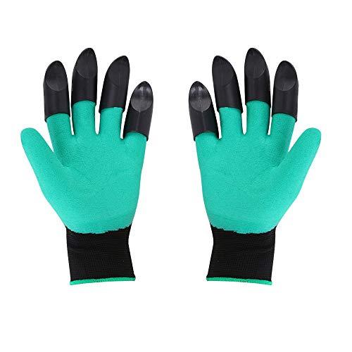 Herramienta de jardinería Guantes de jardín Guantes de plástico de goma para jardín, jardinería, excavación, siembra, duradero, impermeable, guantes de trabajo para jardinería al aire libre (color: B)