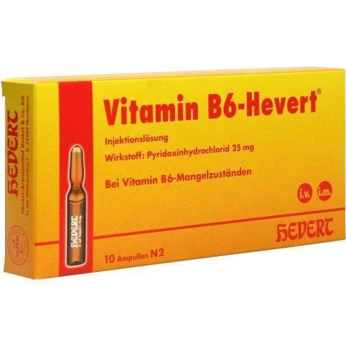 VITAMIN B6 HEVERT 10X2ml Ampullen PZN:3919991 by Hevert Arzneimittel Gm