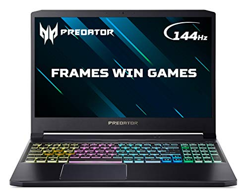 Acer Predator Triton 300 PT315-52 15.6 inch Gaming Laptop (Intel Core i7-10750H, 8GB RAM, 512GB SSD, NVIDIA GTX 1660Ti, Full HD 144Hz Display, Windows 10, Black)