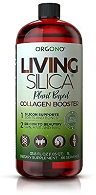 Living Silica Plant Based Collagen Booster | Vegan Collagen Booster | Supports Healthy Collagen and Elastin Production for Joint & Bone Support, Glowing Skin, Strong Hair & Nails