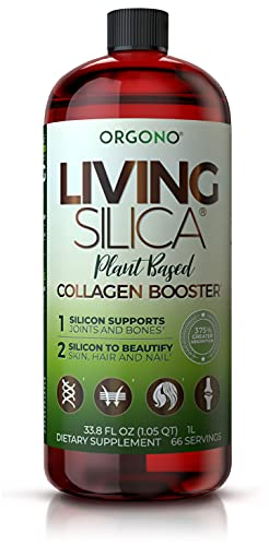 Living Silica Plant Based Collagen Booster   Vegan Collagen Booster   Supports Healthy Collagen and Elastin Production for Joint & Bone Support, Glowing Skin, Strong Hair & Nails