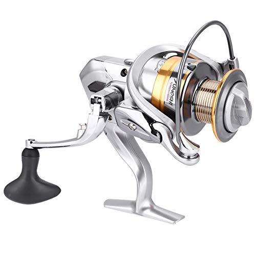 ZHHZ Carrete de pesca-sal de agua dulce de metal resistente ligero de fundición Spinning Fishing Reel (plata-2000)