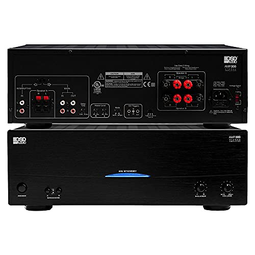 OSD Audio 350W Dual Source Speaker Amplifier – Class A/B Power Stereo, AMP300