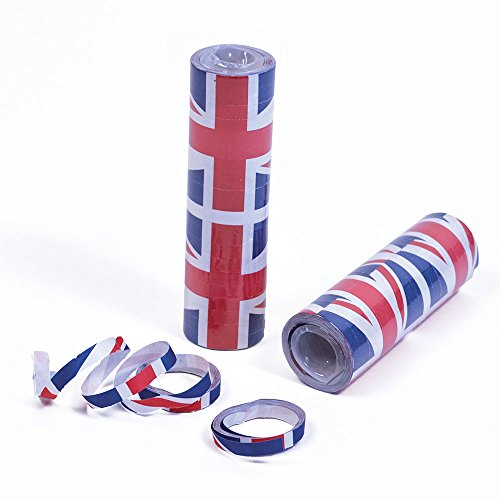 Bristol Novelty Pg065 Union Jack serpentins, Bleu/rouge/blanc, taille unique