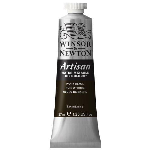 Winsor & Newton Artisan Water Mixable Oil Colour, 37ml tube, Ivory Black