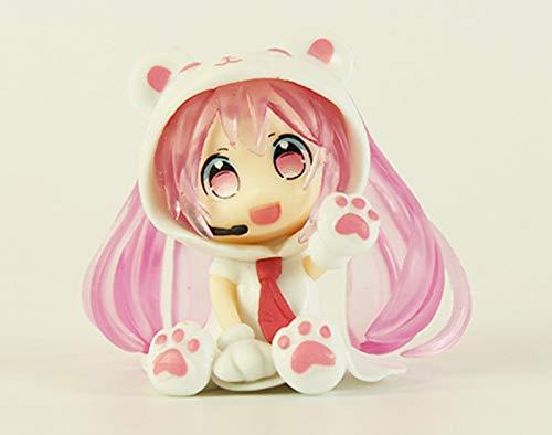 pvc2.5 inch Mini Cute Anime figurees Doll Anime Figurines (Pink)
