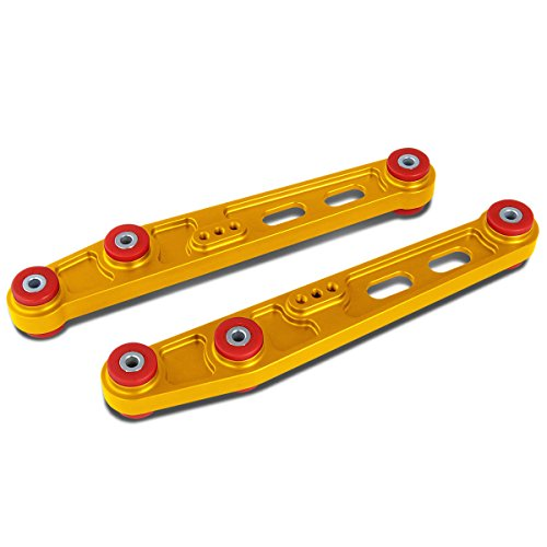 Replacement for Honda Civic/CRX/Integra Aluminum Rear Lower Control Arms Kit (Gold) - EC ED EE EF EG EH