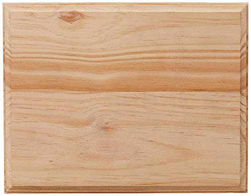 Darice Wood Rectangle Plaque, Natural