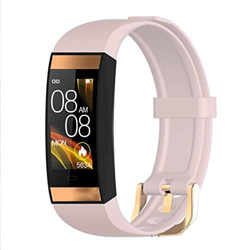 YDZ Nuevo E78 Smart Watch Ladies Bluetooth Touch Pantalla Táctil IP68 Impermeable Salud Deportes Corazón Rate Presión Arterial Pulsera Pulsera Android iOS,A