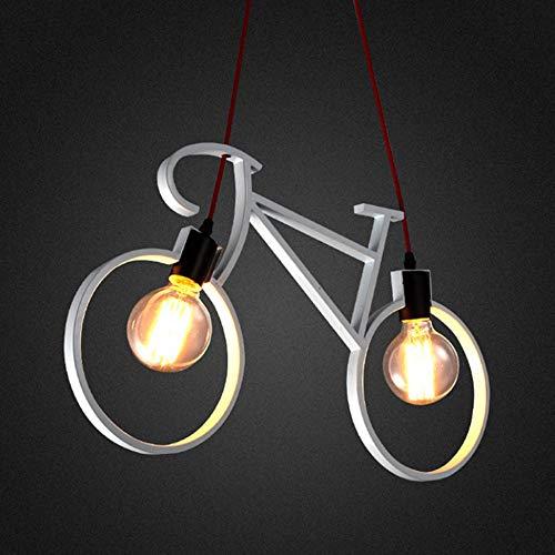 Mrdsre Retro Hierro labrado LED araña Moderna Bicicleta Metal Plancha Colgante Luces E27 Edison Bike Lámparas de techo Lámparas para Living Comedor Habitación para niños Restaurante Tienda Cafetería T