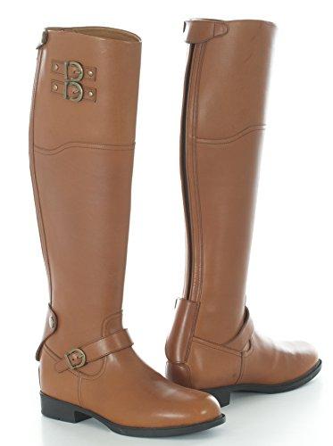 Toggi Chandler, Stivali da Equitazione Unisex-Adulto, Marrone London Tan, 41.5 EU