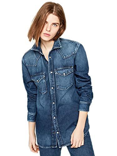 Pepe Jeans - Camisa Deportiva - para Mujer Denim Medio L