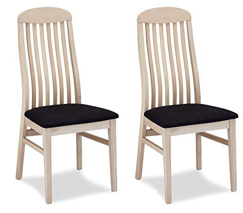 Furnhouse Furniture Silla de Comedor, Roble, Acabado en Negro y Crema, 47x50x103