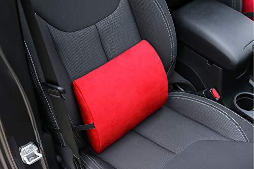 Ergonomisches Rückenkissen mit Memory für BMW Modelle - Funktion 1 stück. Lordosenstütze in 6 Farben Alkantra.