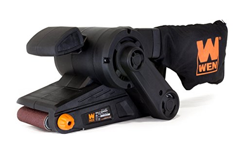 WEN 6321 7-Amp 3 in. x 21 in. Corded Belt Sander with Dust Bag , Black