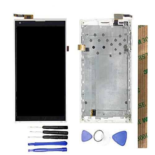 JayTong - visualización LCD y digitalizador de visualización táctil de Repuesto para Doogee DG550 Negro LCD with Blanco Frame
